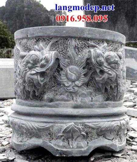 88 Mẫu bát hương bình bông nhà thờ họ đình đền chùa miếu khu lăng mộ bằng đá chạm khắc tinh xảo tại Thái Bình