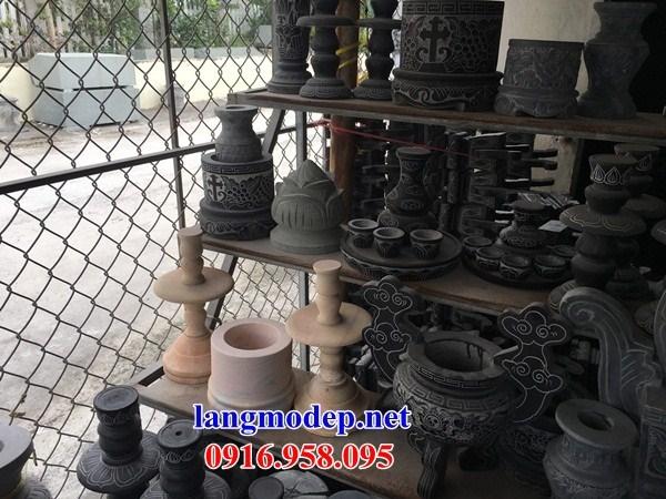 88 Mẫu bát hương bình bông nhà thờ họ đình đền chùa miếu khu lăng mộ bằng đá tại Thái Bình