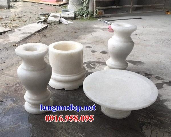 88 Mẫu bát hương bình bông nhà thờ họ đình đền chùa miếu khu lăng mộ bằng đá trắng tại Thái Bình