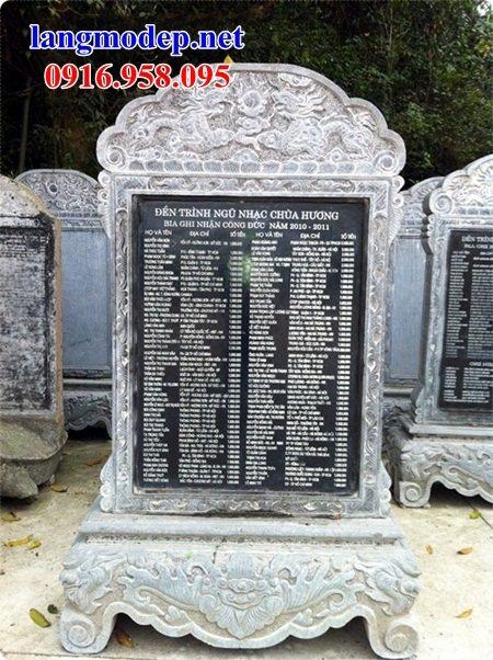 88 Mẫu bia ghi danh nhà thờ họ đình đền chùa miếu khu lăng mộ bằng đá Ninh Bình tại Thái Bình