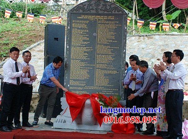 88 Mẫu bia ghi danh nhà thờ họ đình đền chùa miếu khu lăng mộ bằng đá tại Thái Bình