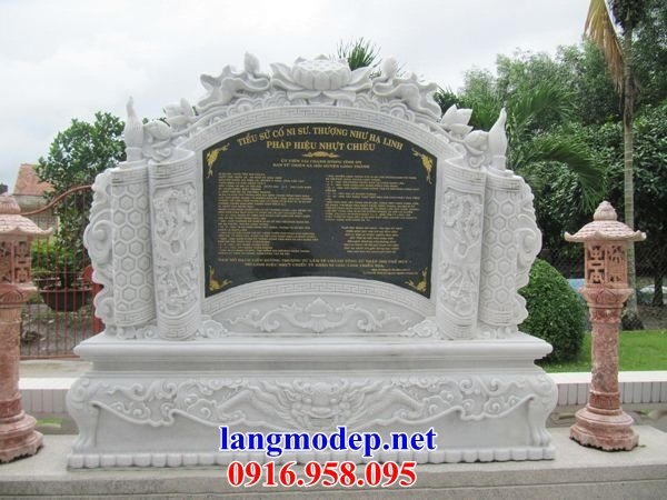 88 Mẫu bia ghi danh nhà thờ họ đình đền chùa miếu khu lăng mộ bằng đá trắng tại Thái Bình