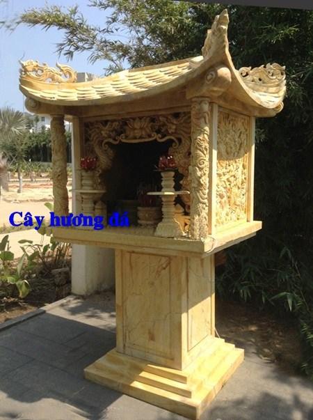 88 Mẫu cây hương miếu thờ thần linh nhà thờ họ đình đền chùa miếu khu lăng mộ bằng đá vàng tại Thái Bình