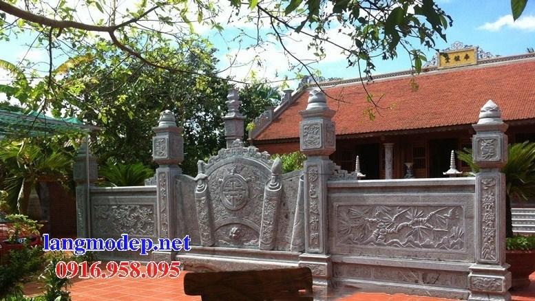 88 Mẫu cổng nhà thờ họ đình đền chùa miếu bằng đá tại Thái Bình