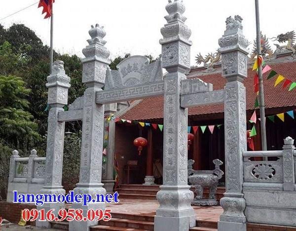 88 Mẫu cổng tam quan nhà thờ họ đình đền chùa miếu khu lăng mộ bằng đá Ninh Bình tại Thái Bình
