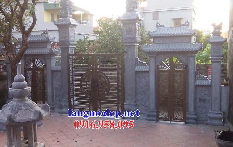 88 Mẫu cổng tam quan nhà thờ họ đình đền chùa miếu khu lăng mộ bằng đá Thanh Hóa tại Thái Bình
