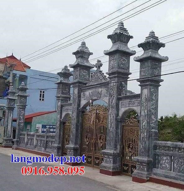 88 Mẫu cổng tam quan nhà thờ họ đình đền chùa miếu khu lăng mộ bằng đá tại Thái Bình
