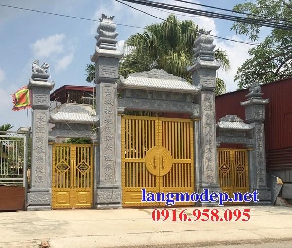 88 Mẫu cổng tam quan nhà thờ họ đình đền chùa miếu khu lăng mộ bằng đá thiết kế đẹp tại Thái Bình