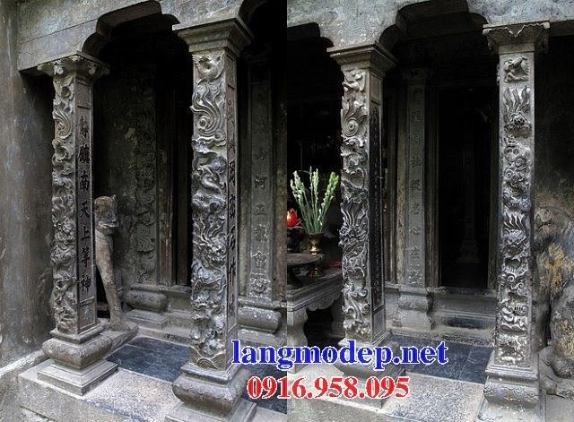 88 Mẫu cột đá cột đồng trụ nhà thờ họ đình đền chùa miếu khu lăng mộ bằng đá chạm khắc tinh xảo tại Thái Bình