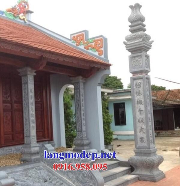 88 Mẫu cột đá cột đồng trụ nhà thờ họ đình đền chùa miếu khu lăng mộ bằng đá tại Thái Bình
