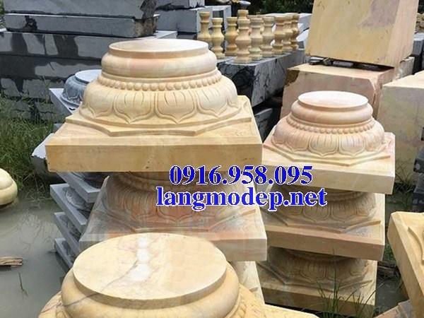 88 Mẫu chân cột chân tảng nhà thờ họ đình đền chùa miếu khu lăng mộ bằng đá vàng tại Thái Bình