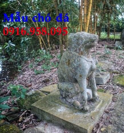 88 Mẫu chó phong thủy nhà thờ họ đình đền chùa miếu khu lăng mộ bằng đá tại Thái Bình