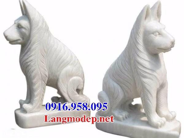 88 Mẫu chó phong thủy nhà thờ họ đình đền chùa miếu khu lăng mộ bằng đá trắng tại Thái Bình