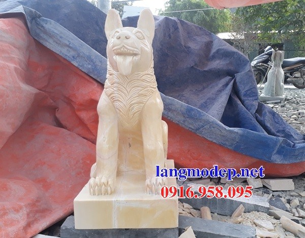 88 Mẫu chó phong thủy nhà thờ họ đình đền chùa miếu khu lăng mộ bằng đá vàng tại Thái Bình
