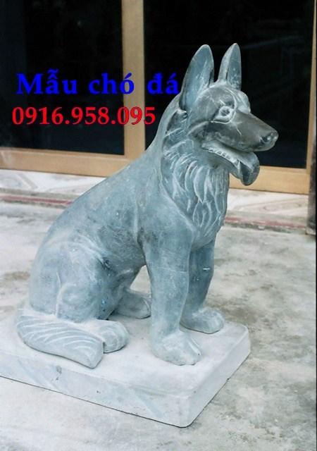 88 Mẫu chó phong thủy nhà thờ họ đình đền chùa miếu khu lăng mộ bằng đá xanh tại Thái Bình