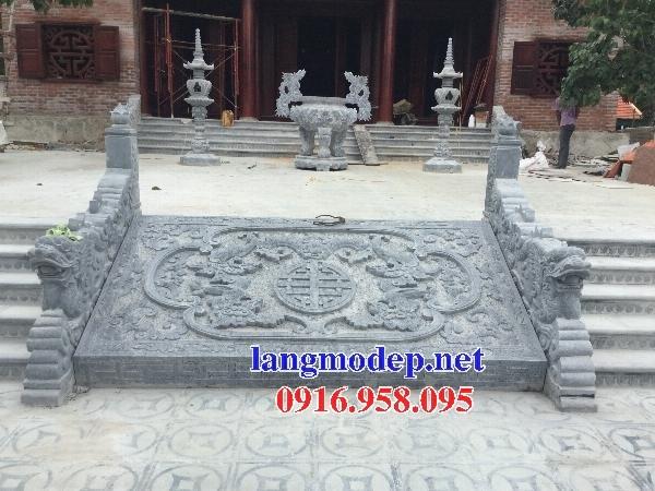 88 Mẫu chiếu rồng nhà thờ họ đình đền chùa miếu khu lăng mộ bằng đá thiết kế đẹp tại Thái Bình