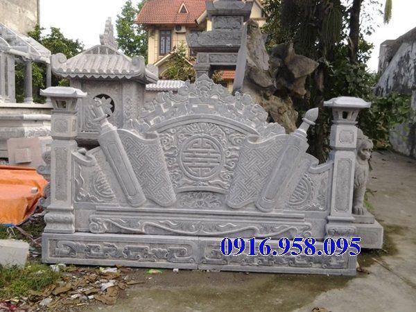 88 Mẫu cuốn thư bức bình phong nhà thờ họ đình đền chùa miếu khu lăng mộ bằng đá Ninh Bình tại Thái Bình