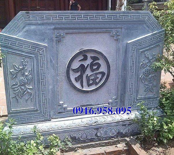 88 Mẫu cuốn thư bức bình phong nhà thờ họ đình đền chùa miếu khu lăng mộ bằng đá Thanh Hóa tại Thái Bình