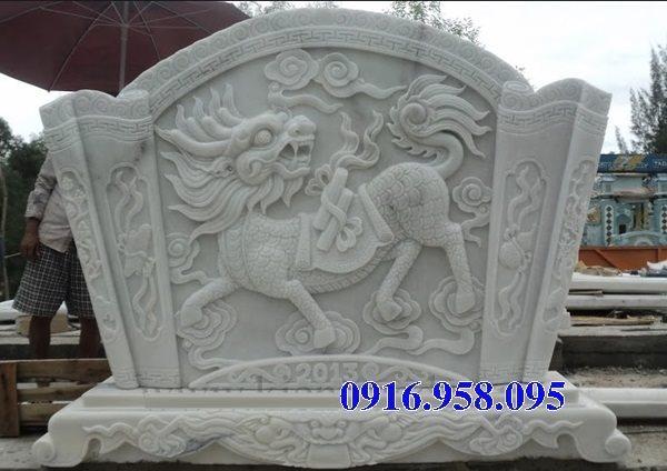88 Mẫu cuốn thư bức bình phong nhà thờ họ đình đền chùa miếu khu lăng mộ bằng đá trắng tại Thái Bình