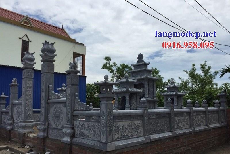 88 Mẫu lan can tường rào nhà thờ họ đình đền chùa miếu khu lăng mộ bằng đá Ninh Bình tại Thái Bình