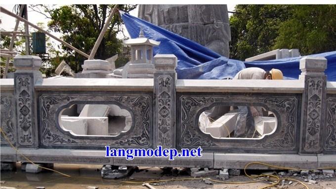 88 Mẫu lan can tường rào nhà thờ họ đình đền chùa miếu khu lăng mộ bằng đá tại Thái Bình