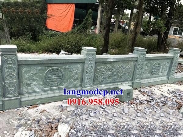 88 Mẫu lan can tường rào nhà thờ họ đình đền chùa miếu khu lăng mộ bằng đá xanh rêu tại Thái Bình