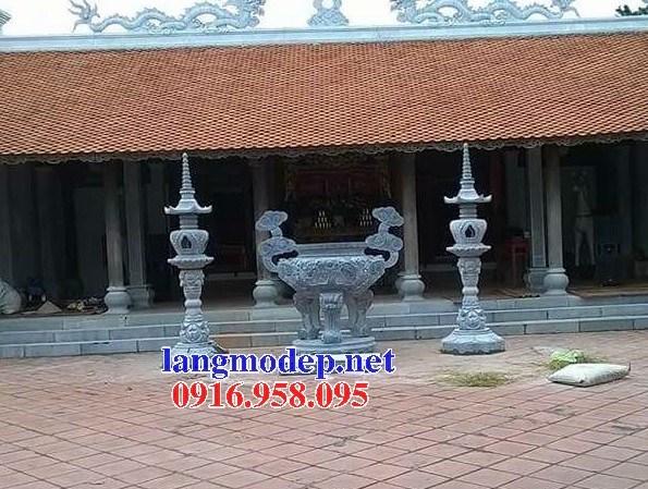 88 Mẫu lan can tường rào nhà thờ họ đình đền chùa miếu khu lăng mộ bằng đá xanh tại Thái Bình