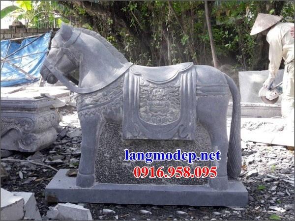 88 Mẫu ngựa phong thủy nhà thờ họ đình đền chùa miếu khu lăng mộ bằng đá Ninh Bình tại Thái Bình