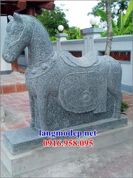 88 Mẫu ngựa phong thủy nhà thờ họ đình đền chùa miếu khu lăng mộ bằng đá tự nhiên cao cấp tại Thái Bình