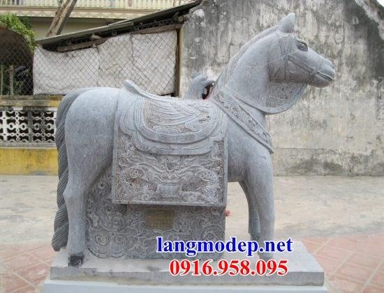 88 Mẫu ngựa phong thủy nhà thờ họ đình đền chùa miếu khu lăng mộ bằng đá thiết kế đẹp tại Thái Bình