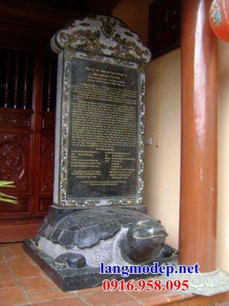 88 Mẫu rùa cõng bia ghi danh nhà thờ họ đình đền chùa miếu khu lăng mộ bằng đá đặt tại Thái Bình