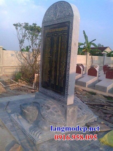 88 Mẫu rùa cõng bia ghi danh nhà thờ họ đình đền chùa miếu khu lăng mộ bằng đá tại Thái Bình