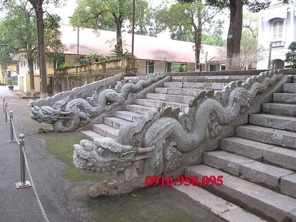 88 Mẫu rồng bậc thềm nhà thờ họ đình đền chùa miếu khu lăng mộ bằng đá tại Thái Bình