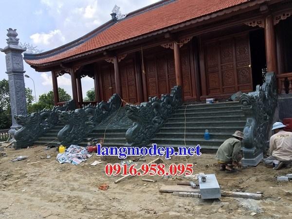 88 Mẫu rồng bậc thềm nhà thờ họ đình đền chùa miếu khu lăng mộ bằng đá xanh rêu tại Thái Bình