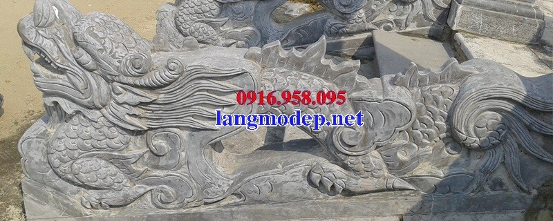 88 Mẫu rồng nhà thờ họ đình đền chùa miếu khu lăng mộ bằng đá tại Thái Bình