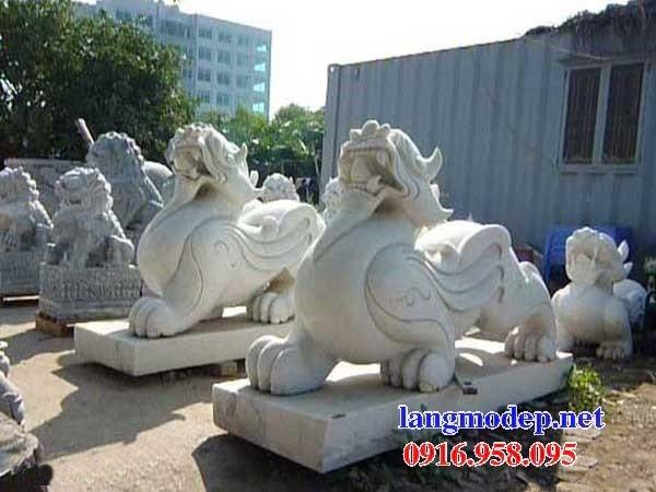 88 Mẫu tỳ hưu phong thủy nhà thờ họ đình đền chùa miếu khu lăng mộ bằng đá trắng tại Thái Bình