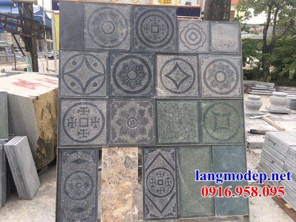 92 Mẫu đá lát nền ốp tường nhà thờ họ đình đền chùa miếu khu lăng mộ bằng đá mẫu mã đa dạng tại Phú Thọ