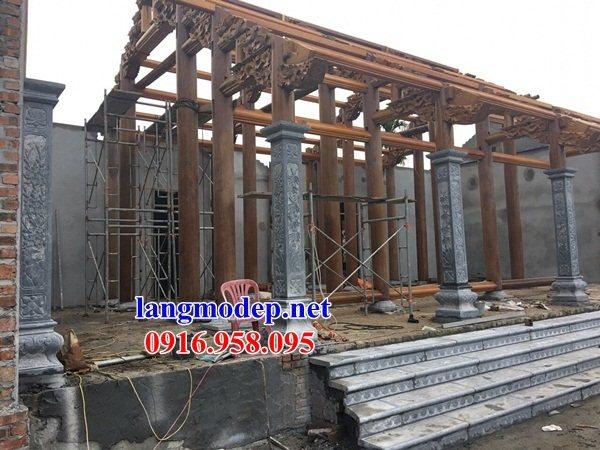 92 Mẫu đá lát nền ốp tường nhà thờ họ đình đền chùa miếu khu lăng mộ bằng đá thi công lắp đặt tại Phú Thọ