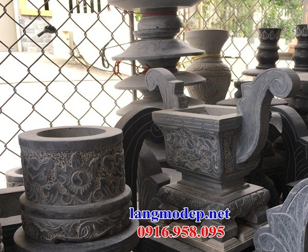 92 Mẫu Hình ảnh bát hương bình bông nhà thờ họ đình đền chùa miếu khu lăng mộ bằng đá tại Phú Thọ