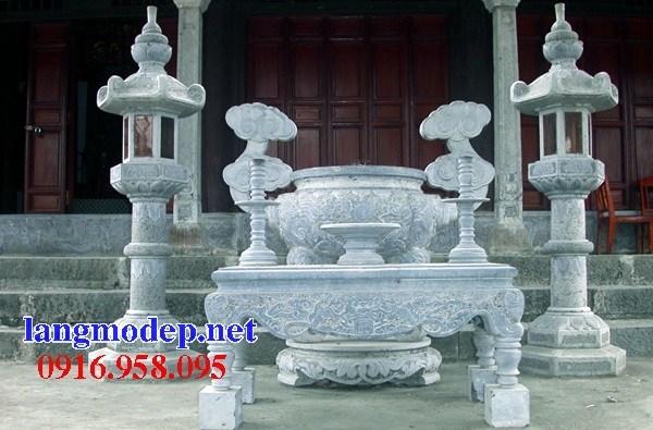 92 Mẫu bàn lễ nhà thờ họ đình đền chùa miếu khu lăng mộ bằng đá bán tại Phú Thọ