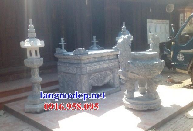 92 Mẫu bàn lễ nhà thờ họ đình đền chùa miếu khu lăng mộ bằng đá tại Phú Thọ