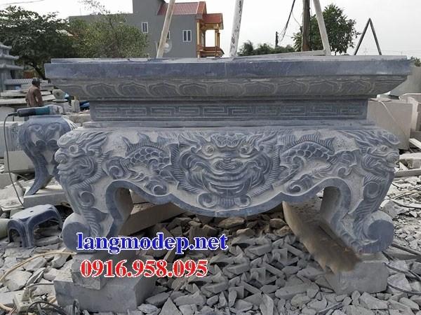 92 Mẫu bàn lễ nhà thờ họ đình đền chùa miếu khu lăng mộ bằng đá thiết kế đẹp tại Phú Thọ