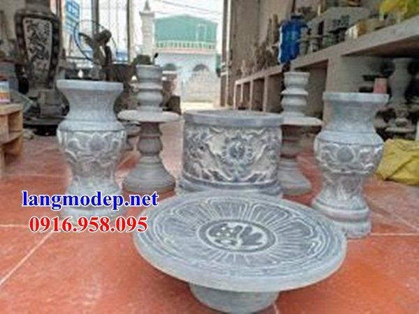 92 Mẫu bát hương bình bông nhà thờ họ đình đền chùa miếu khu lăng mộ bằng đá Ninh Bình tại Phú Thọ