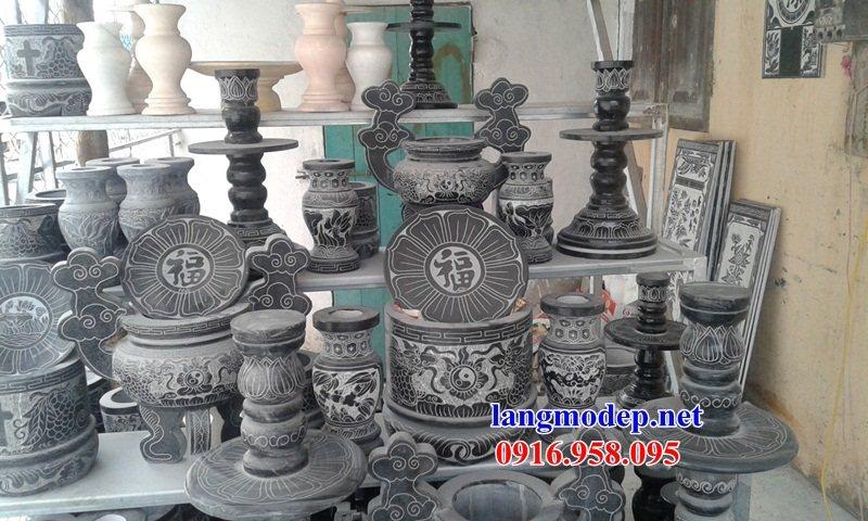 92 Mẫu bát hương bình bông nhà thờ họ đình đền chùa miếu khu lăng mộ bằng đá tại Phú Thọ