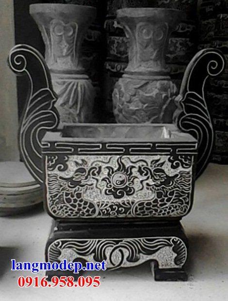 92 Mẫu bát hương bình bông nhà thờ họ đình đền chùa miếu khu lăng mộ bằng đá tự nhiên tại Phú Thọ