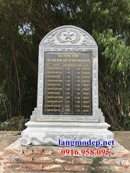 92 Mẫu bia ghi danh nhà thờ họ đình đền chùa miếu khu lăng mộ bằng đá tại Phú Thọ