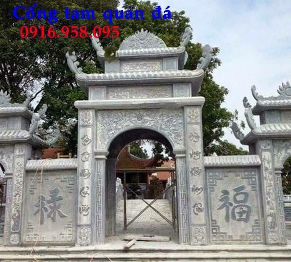 92 Mẫu cổng nhà thờ họ đình đền chùa miếu bằng đá tại Phú Thọ