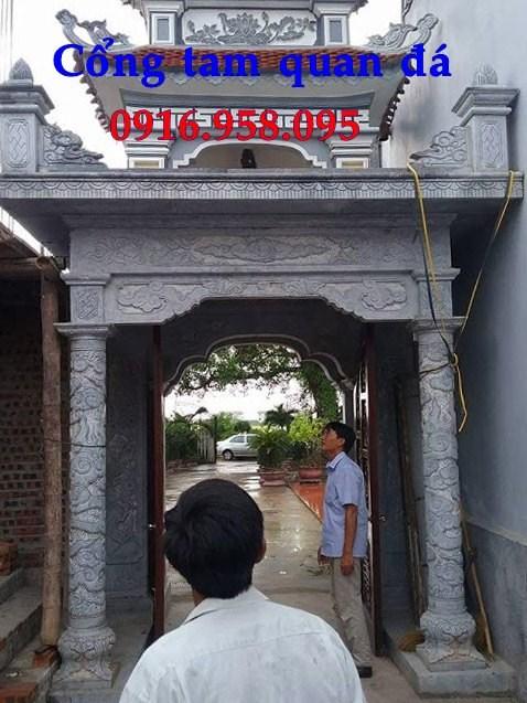 92 Mẫu cổng nhà thờ họ đình đền chùa miếu khu lăng mộ bằng đá tại Phú Thọ