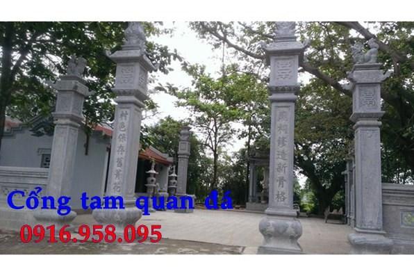 92 Mẫu cổng tam quan nhà thờ họ đình đền chùa miếu khu lăng mộ bằng đá tại Phú Thọ