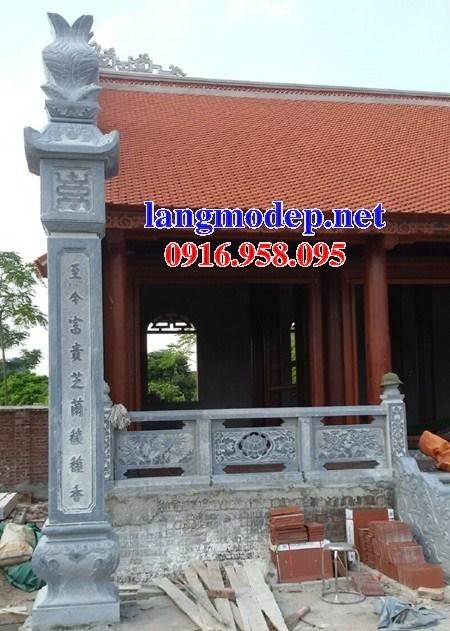 92 Mẫu cột đá cột đồng trụ nhà thờ họ đình đền chùa miếu khu lăng mộ bằng đá Thanh Hóa tại Phú Thọ